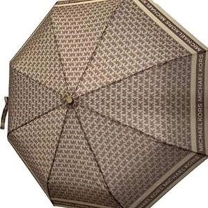 NWT AUTHENTIC MK full size brown umbrella